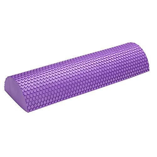 Dedeka Mitad Ronda Fitness Rodillo de Espuma EVA 30-45cm, Rodillo de Espuma semicircular para Masaje Muscular, Equipos de Yoga Pilates con Punto Flotante para masajes