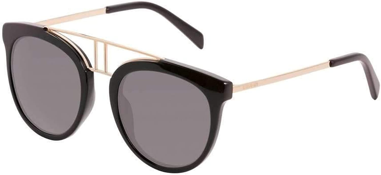 Balmain sunglasses (BL2117 01) Shiny Black  gold  Grey lenses