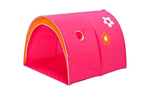 Hoppekids Tunnel / Höhle Flower Power für Hochbett, Halbhochbett, Spielbett Breite 90 cm, Textil, rosa, 90 x 73 x 102 cm