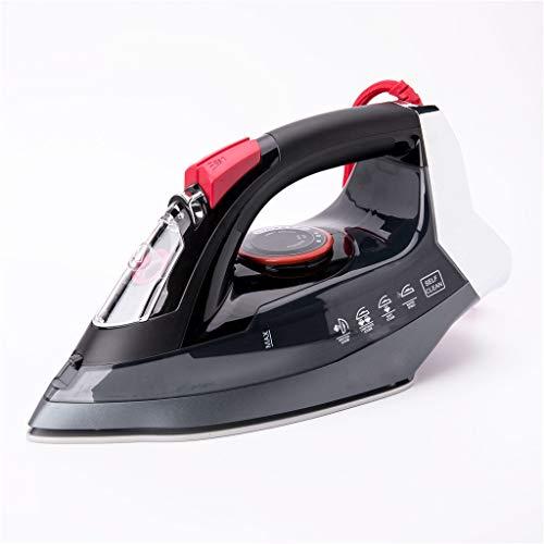 Stoomstrijkijzers Black 16X12x30cm 2200W Electric Stoomstrijkijzer Flatiron voor Kleding Hoge kwaliteit multifunctionele Keramische Soleplate Travel Strijkijzer,Black