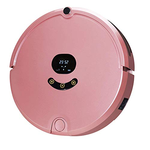 Fantastic Deal! Robot Vacuum Cleaners, Multiple Cleaning Modes, with Self-Charging & Drop-Sensing Technology, Remote Control Phone App Control Operation- Smart Sweeper- Multiple Protection (Pink)