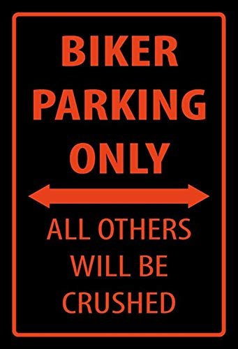 Blechschild 30 x 20 cm Warning Vespa Parking Only