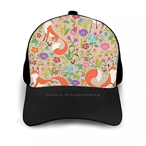 OEWFM Gorra de Beisbol Flor Papá Mamá Gorra béisbol Amigo Regalo Patrón Azulejos Flores Animal Lindo Animales Vintage Regalo