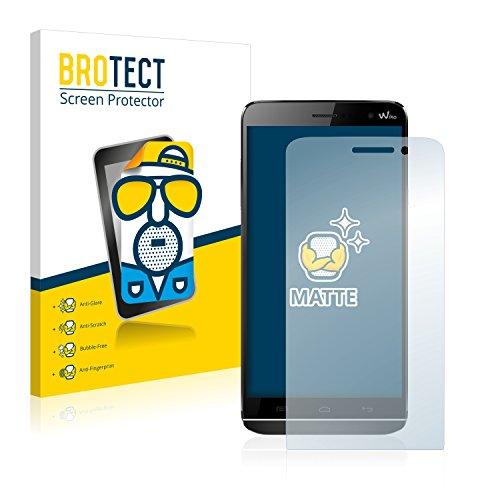 BROTECT 2X Entspiegelungs-Schutzfolie kompatibel mit Wiko Slide Bildschirmschutz-Folie Matt, Anti-Reflex, Anti-Fingerprint