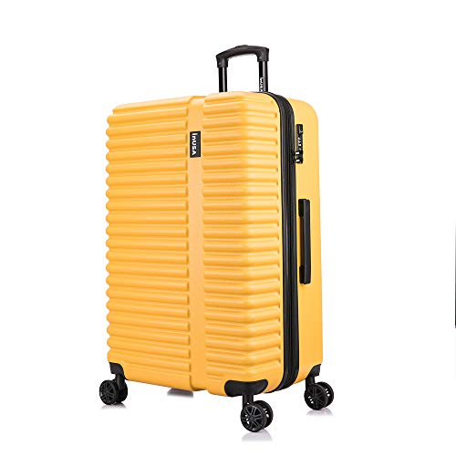 InUSA Hardside 28 Inch Large Lightweight Luggage with Ergonomic Handles and TSA Lock, Ally Collection Travel Suitcase with Spinner Wheels, Mustard