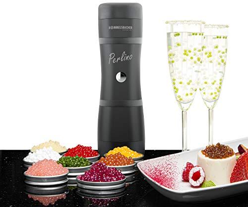 ROMMELSBACHER Food Designer FD 500 Perlino - für bis zu 500 Geleeperlen pro Minute, 2 Edelstahldüsen für große & kleine Geleeperlen, 200 ml Füllmenge, integrierter Zutatenbehälter, Ein/Ausschalter
