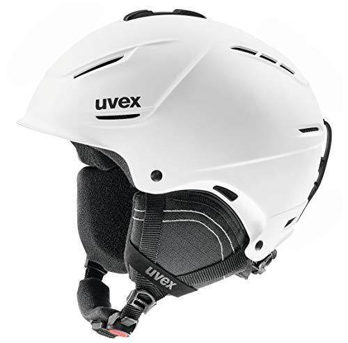uvex Unisex– Erwachsene, p1us 2.0 Skihelm, white mat, 52-55 cm