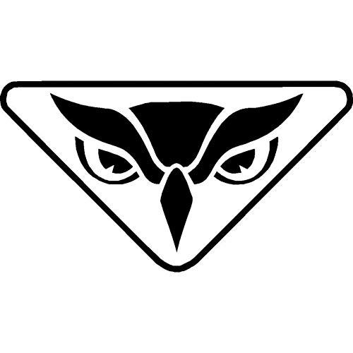 WBXZY Car Sticker 15.5X8.4CM Owl Head Creative Vinyl Car Sticker Decal Black Silver Fashion Car Modeling Car Decal