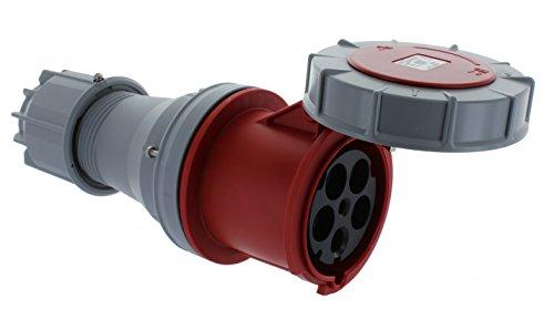 CEE 400 V Kupplung 125 A 400 V 6h rot K54S35 Baustelle Industrie Handwerk