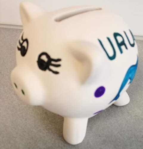 Spardose Urlaub Urlaubskasse Geldgeschenk Keramik Sparschwein Sparbüchse Geburtstagsgeschenk Kindergeschenk