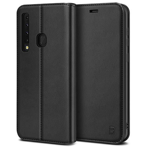 BEZ Handyhülle für Samsung Galaxy A9 2018Hülle, Tasche Kompatibel für Samsung A9 2018, Hülle Schutzhüllen aus Klappetui mit Kreditkartenhaltern, Ständer, Magnetverschluss, Schwarz