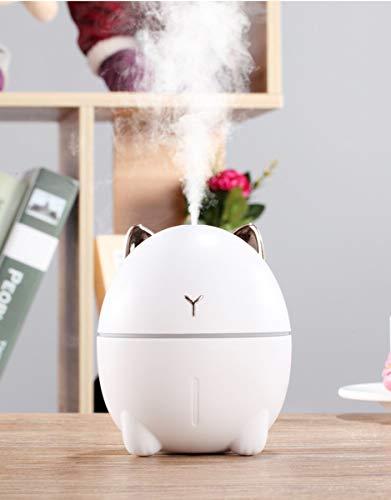 MO-UK 【2019 Aktualisiert】 Luftbefeuchter Mini Luftbefeuchter USB Silent Luftbefeuchter für Schlafzimmer Baby Kind Auto niedlich persönlicher kleiner Luftbefeuchter (weiß)