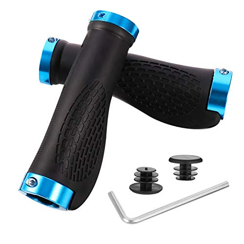 HEQUSigns Bike Handlebar Grips, Ergonomic Design Bicycle Rubber Grips, MTB Mountain Bike Grips For Kids/Adult Bike Components Mountain Outdoor Cycling Grips Parts