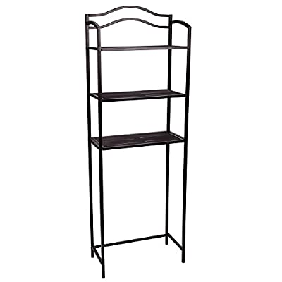 Household Essentials 3 Tier Over The Toilet Storage Rack, Expresso