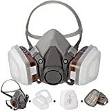 [Half mask respirator] Reusable Half Face Cover 6200 spray mask for spraying Painting.Chemical Machine Polishing.Welding. Woodworking and Other Work Protection (7 in 1 )