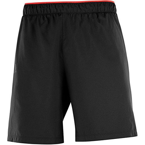 Preisvergleich Produktbild SALOMON Pulse Short Herren Shorts,  M,  schwarz (Black / Fiery Red)
