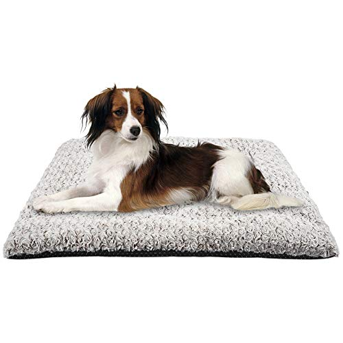 MIXJOY Dog Bed Crate Pad Soft Washable Anti-Slip Kennel Mat for Large Medium Small Dogs and Cats (35'' x 23'')