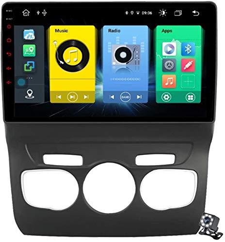 Pantalla táctil QLED de 9 Pulgadas Android 10 Navegación Multimedia para Citroen C4 C4L DS4 2013-2017, RDS FM Stereo AUTORADIO con Sistema GPS, Soporta SWC DSP Carplay Android Auto