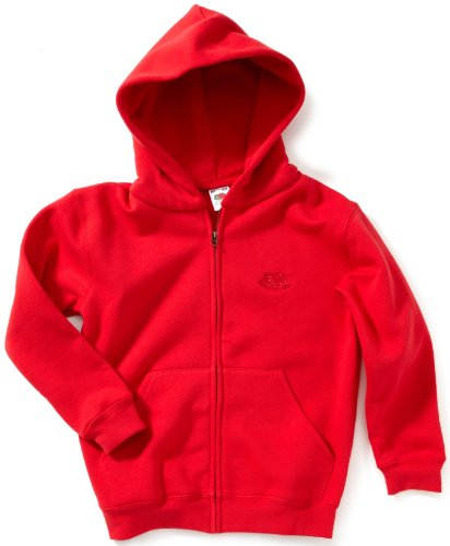 Fruit Of The Loom - Sweat-Shirt - À Capuche - Manches Longues Mixte Bébé - Rouge - Rot (40 Rot ) - FR : 13-14 Ans (Taille Fabricant : 164) (Brand size : 164)