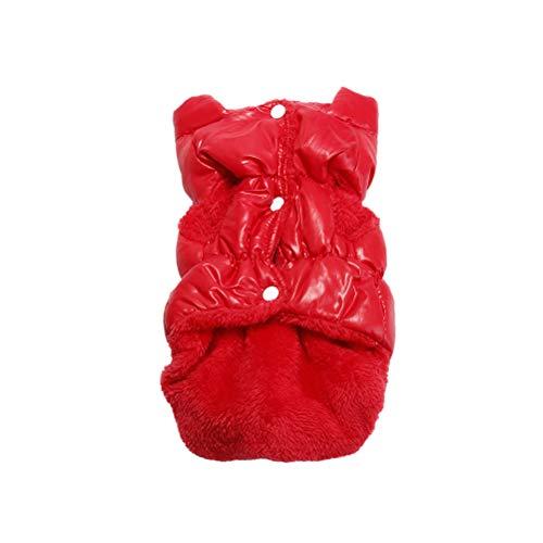 iplusmile Disfraz de Mascota Ropa para Mascotas de Moda Abrigo clido para Mascotas de Invierno Traje de Chaleco para Mascotas para Perro Cachorro (Rojo, Talla XL)