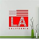 zhuziji Los Angeles Sticker USA California State Home Decor Chambre Salon Restaurant Amovible Decor Mur Art Sticker Mural 88A-3 60 x 60 cm