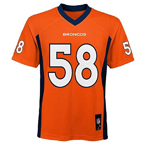 OuterStuff Von Miller #58 Denver Broncos NFL Youth Mid-Tier Jersey orange, Unisex Kinder, Orange, Youth XL 18/20