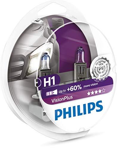 Philips 12258VPS2 VisionPlus - Bombillas H1 para faros delanteros (2 unidades)