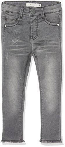 Name It Nittelsy Skinny DNM Pant Mini Noos Jeans, Gris (Dark Grey Denim), 80 Bébé Fille