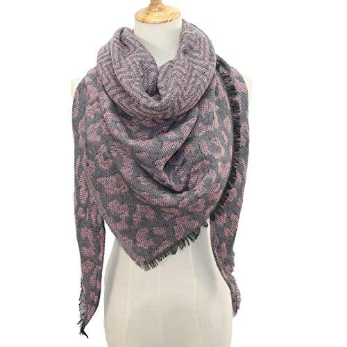 ◕‿◕Maonet Fashion Women Scarf Scarves Winter Warm Leopard print Long Wrap Shawl Stole Cape (Pink)