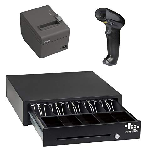 POS Hardware Bundle for Square - Cash Drawer, Thermal Receipt Printer, and Barcode Scanner [Compatible with Square Stand and Square Register]
