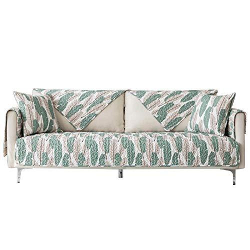 YTSM Fundas De Sofa,Funda de sofá de Tela de algodón Antideslizante Cuatro Estaciones Universal Lavable a máquina-Banana Leaf_70 * 150cm(1PCS)