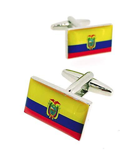 Gemelolandia   Gemelos para Camisa Bandera Nacional de la República del Ecuador Gemelos Originales Para Camisas   Para Hombres y Niños   Regalos Para Bodas, Comuniones, Bautizos y Otros Evento