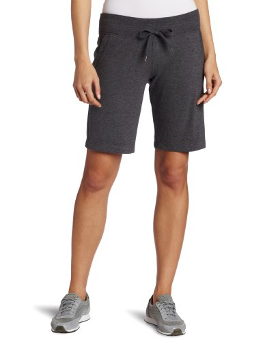 Danskin Women's Essentials Bermuda Short, Charcoal Heather, 1X
