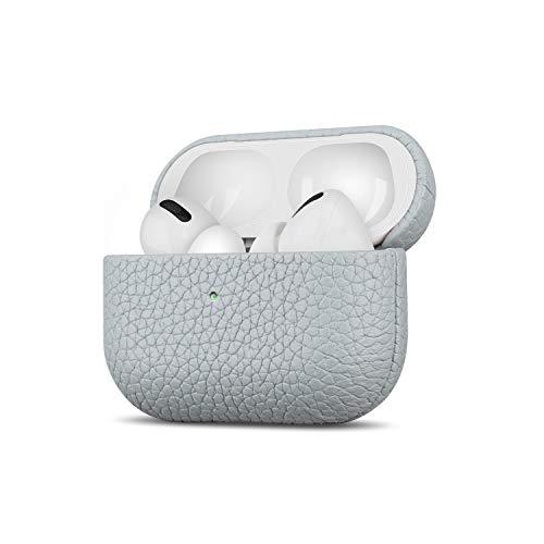Fooyin Handgefertigtes Serie Leather Hülle für AirPods Pro, Leder Hülle kompatibel mit Apple AirPods Pro, AirPods 3 Ledercase (komplett umhüllendes mit Litschikorn), Elfenbein weiß