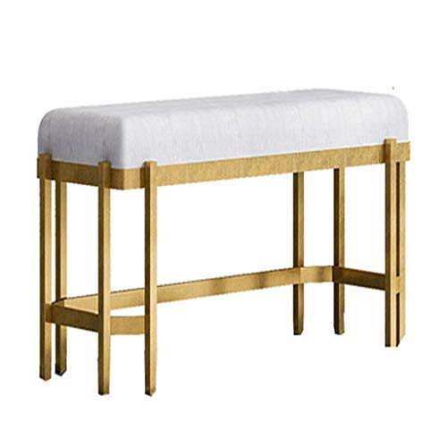 FTFTO Household Products Golden Wrought Iron Sofa Stool Nordic Simple Soft Bag Door Change Shoe Bench Long Bench Stool Bed Stool Fitting Room Wear Shoe Bench Footstool