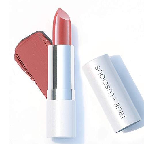 True + Luscious Super Moisture Lipstick - Vegan and Cruelty Free, Non Toxic Formula - 0.12oz, Shade: Just Peachy