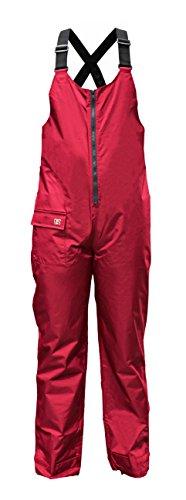crazy4sailing - Pantalones de lluvia, tipo salopette, para mujer y hombre, pantalón con peto, Unisex, color rojo, tamaño small