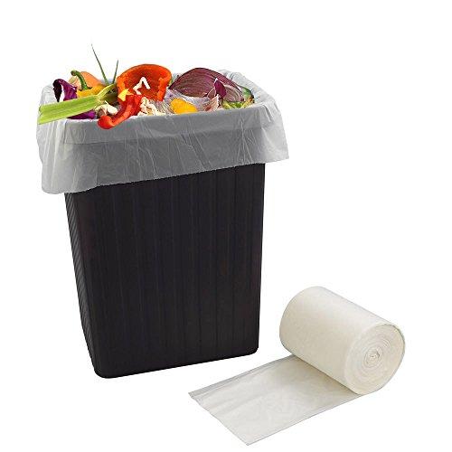 Bblie 40L 100% biodegradables bolsas de basura, blanco