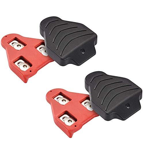Cuasting - Juego de tacos para bicicleta de carretera, compatible con Look Delta (9 grados de flotación) para carretera/bicicleta de spinning bicicleta de carretera/bicicleta juego de tacos de repuesto