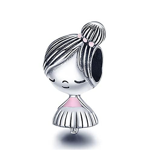Silver Little Boy & amp;Charm de niña en forma de pulsera y brazalete original de 3 mm Fabricación de joyas de bricolaje de moda para mujeres, CMC1335