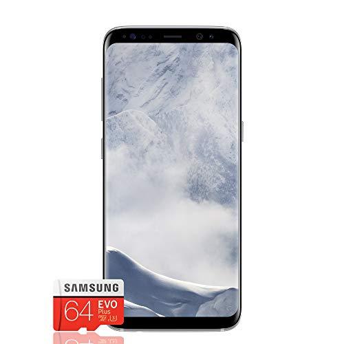 "Samsung Galaxy S8 Smartphone, Arctic Silver, Display 5.8"", 64 GB Espandibili [Versione Italiana] + Micro SD 64 GB Samsung EVO Plus"