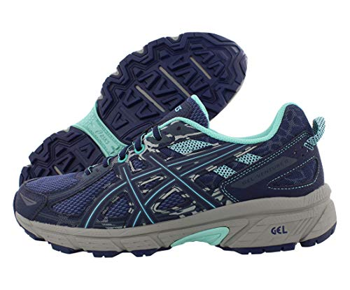 Damen-Laufschuhe von Asics, Gel-Venture 6, Blau (Ink Blue/Aruba Blue/ Mid Grey), 40 EU