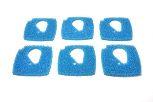 LTWHOME Blauer Rauher Filterschwamm Passend für Eheim Professional 3e 2076/2078/450/700/600T(6 Stück)
