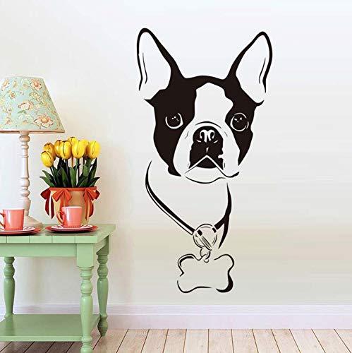 HOUCONG Tiere Hundekopf Wandaufkleber Für Kinderzimmer Tiere Hund Abnehmbare Wandtattoos Tapete Dekoration Zubehör