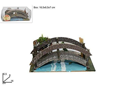 Decorazione Natale Presepe Ponte Ponticello In Legno Hgw-633mi001981