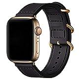 BesBand Bracelet de rechange en silicone souple pour Apple Watch SE et iWatch Série 6/5/4/3/2/1...