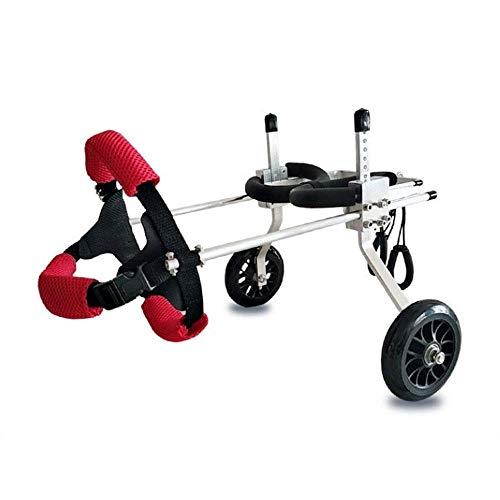 LMCWSTC Oldtimer-Hunderollstuhl für Behinderte, behinderten Hund, Hinterbein-Sportwagen, frei verstellbare Größe, große Zusatzhalterung Rollstuhl gelähmt, behinderter Hund (Größe: M) (Size : XS)