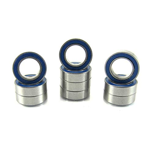 Price comparison product image 6x10x3mm Precision Ball Bearings ABEC 3 Rubber Seals (10) MR106-2RS-BU
