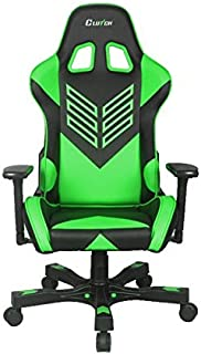 """CLUTCH CHAIRZ Crank Series """"Onylight Edition"""" World's Best Gaming Chair (Black/Green) Racing Bucket Seat Gaming Chairs Computer Chair Esports Chair Executive Office Chair w/Lumbar Support Pillows"""