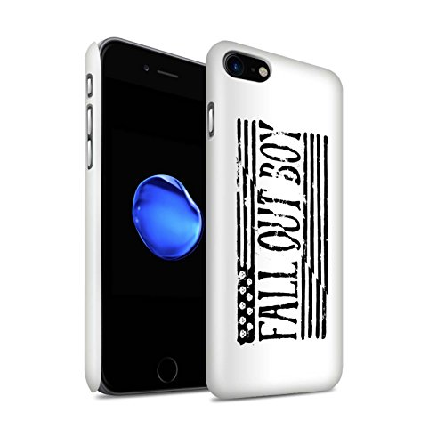 Fall Out Jongen Telefoon Case/Cover/Skin/IP-3DSWG / FOB Band Logo Collectie Apple iPhone SE 2020 Amerikaanse vlag/Wit